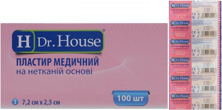 Пластырь медицинский H Dr. House 7.2 см х 2.5 см №100 (5060384392486) - изображение 1
