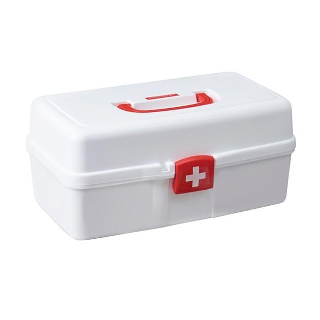 Органайзер-аптечка для лекарств MVM PC-10 пластиковый белый - изображение 1