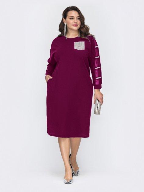 Платье Dressa 52130 56-58 Бордовое (2000405683097_D) - изображение 1