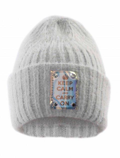 Зимняя шапка Elf-kids Пегги 54-56 см Серая (ROZ6400026469) - изображение 1