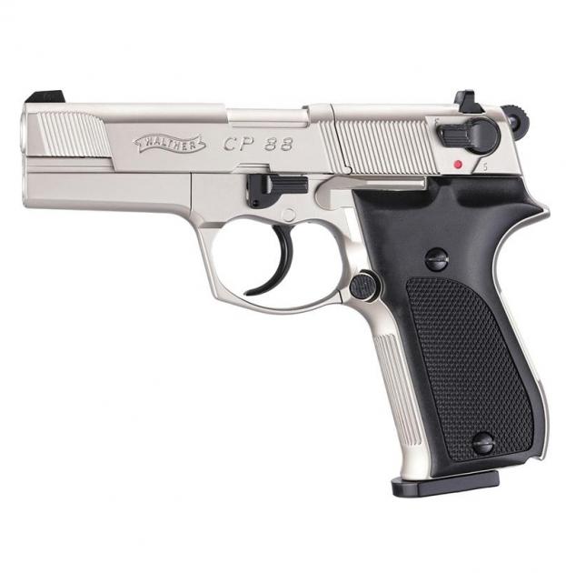 Пневматичний пістолет Umarex Walther CP88 nickel - зображення 1