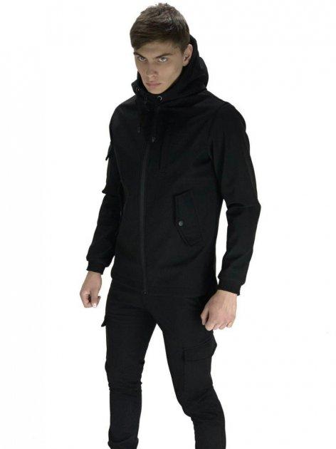 Чоловічий костюм Intruder Softshell демісезонний . Куртка, штани утеплені L чорний - зображення 1