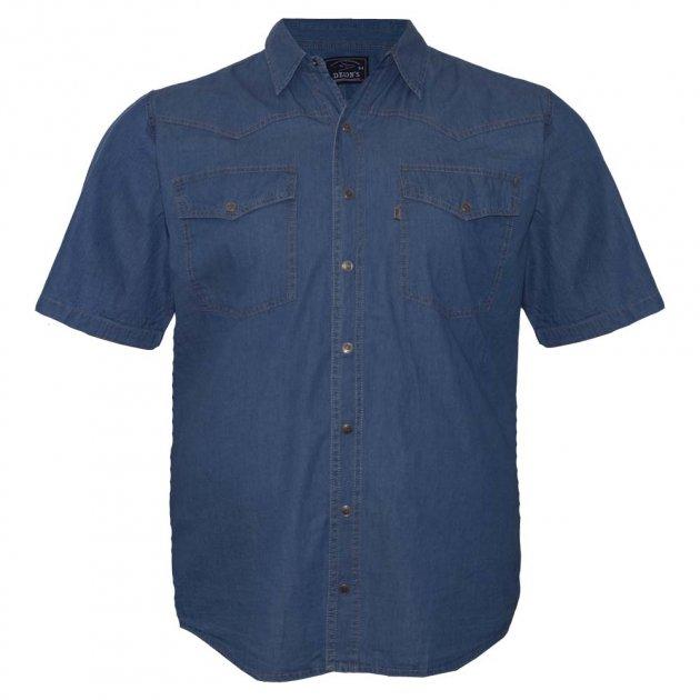 Рубашка мужская с коротким рукавом DEKONS ru05163996 (72) синий - изображение 1