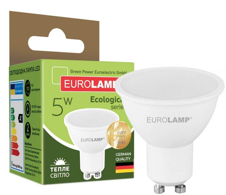 Світлодіодна лампа EUROLAMP SMD MR16 5W GU10 3000K (LED-SMD-05103(P)) - зображення 1