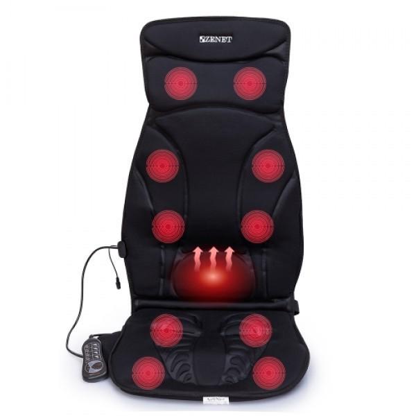 Автомобільна масажна накидка масажер з прогріванням Zenet ZET-814 - зображення 1
