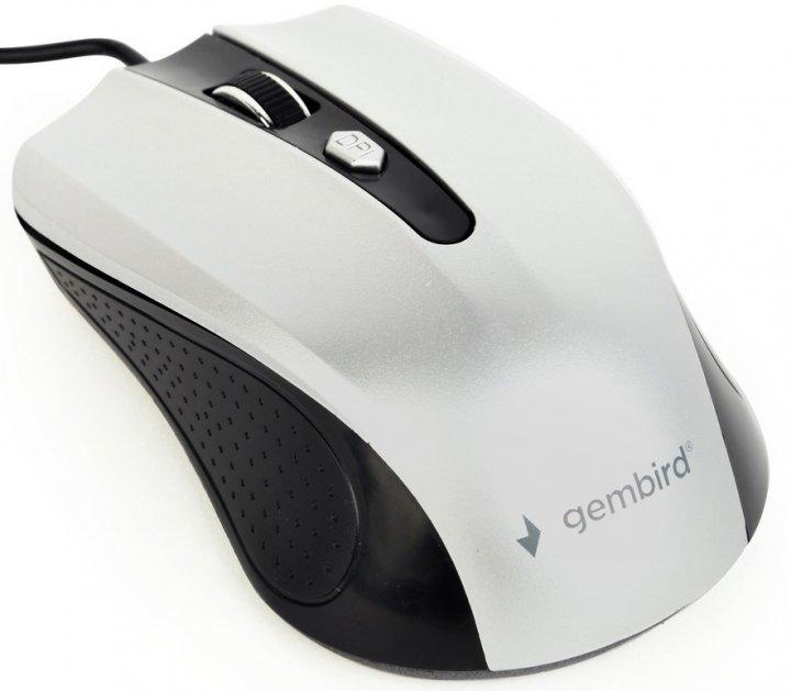 Мышь Gembird MUS-4B-01-BS USB Black-Grey - изображение 1