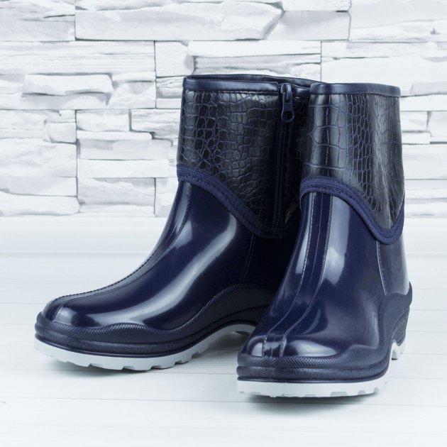 Полусапожки ботинки резиновые W-shoes 111-b утепленные непромокаемые синие 37р (23,5 см) b-608 - изображение 1