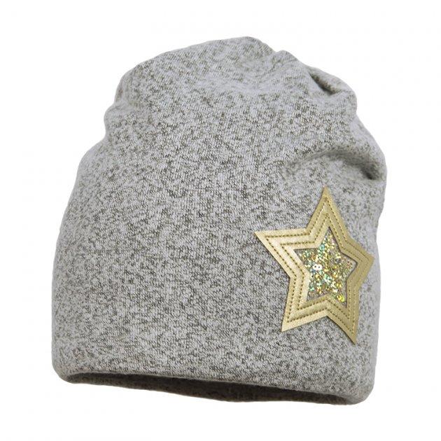 Шапка демисезонная Broel 53/55 Серый-золотой DELHI - изображение 1