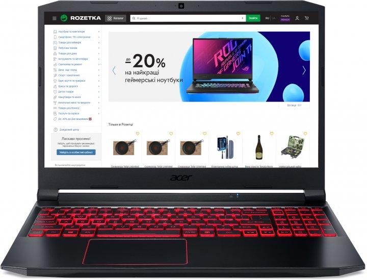 Ноутбук Acer Nitro 5 AN515-55-77YC (NH.Q7JEU.01F) Obsidian Black - зображення 1