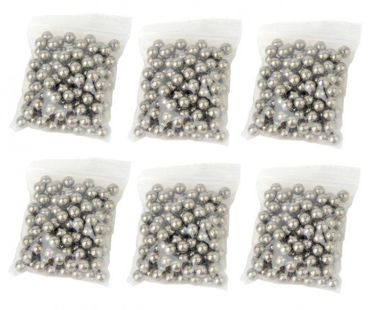 Металлические шарики для рогатки DEXT 8 мм сталь 6 упаковок - изображение 1