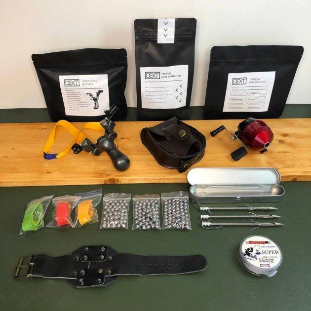 Рогатка для рыбалки с дротиками стрелами и катушкой DEXT Стандартный набор Рогатка для Боуфишинга Bowfishing - изображение 1