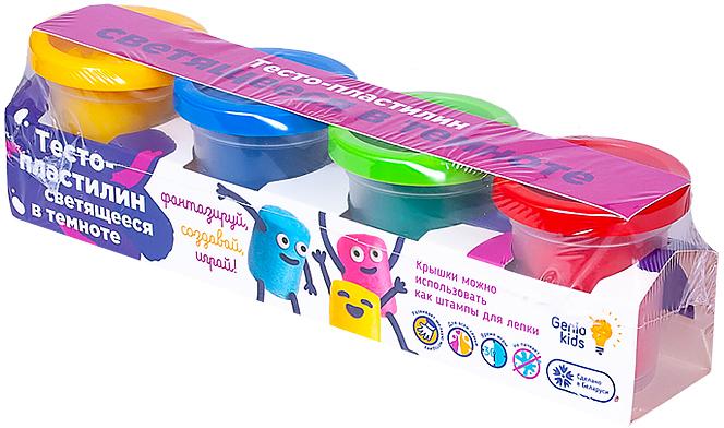 Набор для лепки Тесто-пластилин Светящееся в темноте Genio Kids (TA1021V) - изображение 1