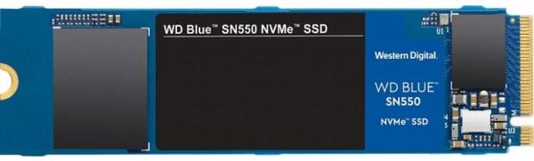 Твердотільний диск SSD M. 2 250GB Western Digital Blue SN550 NVMe PCle 3.0 4x 2280 Sequential Read/Write 2400/950 MB/sec (WDS250G2B0C) - зображення 1