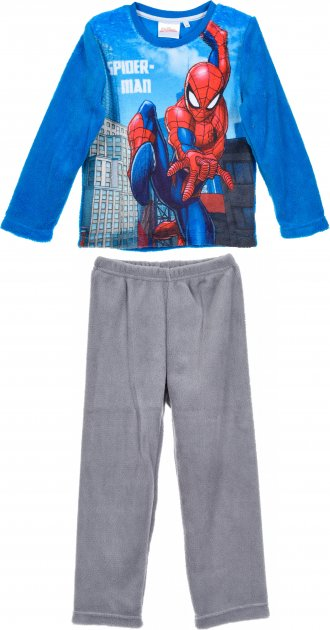 Пижама (футболка с длинными рукавами + штаны) Disney Spiderman HS2048 98 см Blue (3609084014193) - изображение 1