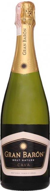 Вино игристое Gran Baron Cava Brut Nature белое брют 0.75 л 11.5% (8413216001129) - изображение 1