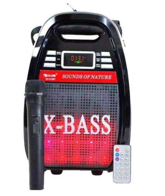 Колонка Golon RX 810 с микрофоном - портативная Bluetooth колонка с радио и светомузыкой - зображення 1
