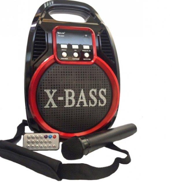 Колонка Golon RX 820 с микрофоном - портативная Bluetooth колонка с радио и светомузыкой - зображення 1
