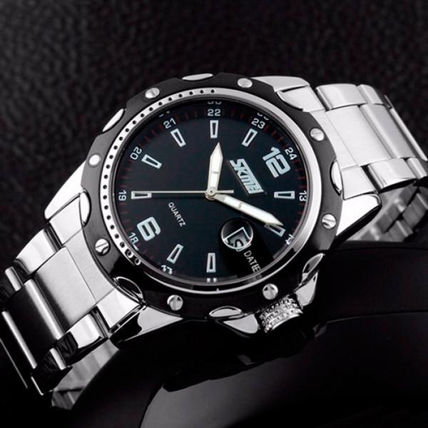 Мужские кварцевые часы Skmei Robby Steel - изображение 1