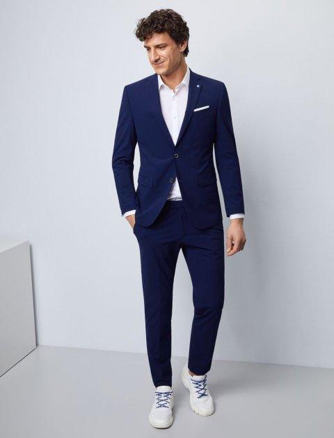 Мужской костюм фирменный в синем цвете от Pierre Cardin, размер 50 (94123/3350) - изображение 1
