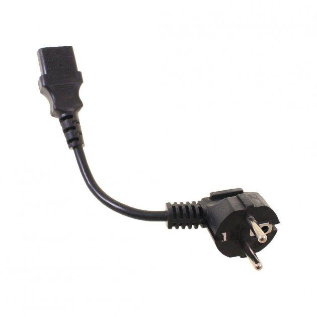 Кабель Cablexpert PC-186-15CM, CEE7/17-С13, 0.15m 3*0.5mm. (Кабель питания) - изображение 1