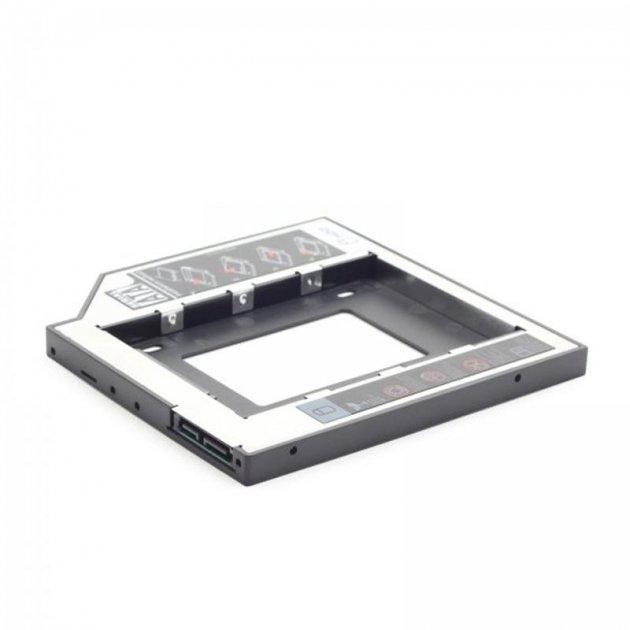 """Адаптер HDD 2,5"""" для ноутбука відсік CD-ROM Gembird MF-95-01 (9.5 мм) - зображення 1"""