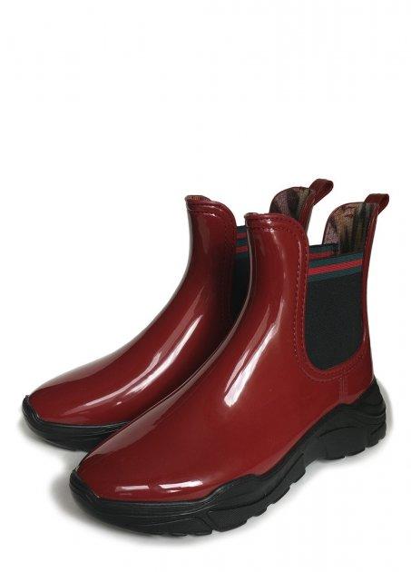 Женские резиновые ботинки РЕАЛПАКС F-200 38 25 см Бордовый с черным - изображение 1