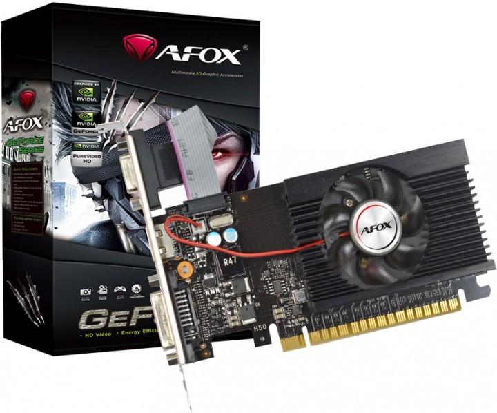 Видеокарта AFOX, GeForce GT710, 2Gb GDDR3, 64-bit, VGA/DVI/HDMI, 800/1600MHz, Low Profile (AF710-2048D3L7) - зображення 1
