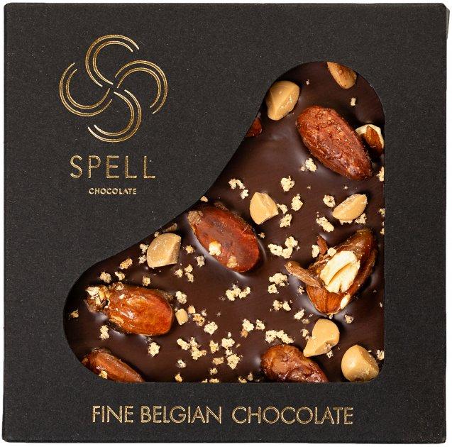 Шоколад Spell Dark Chocolate with Chocolate Caramel 100 г (2187160871607_4820207310834) - изображение 1