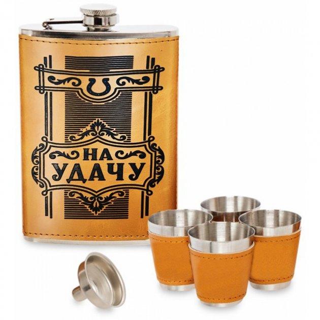 Набор Hip Flask Фляга 9oz+стаканчики+лейка Коричневый 61134 - изображение 1