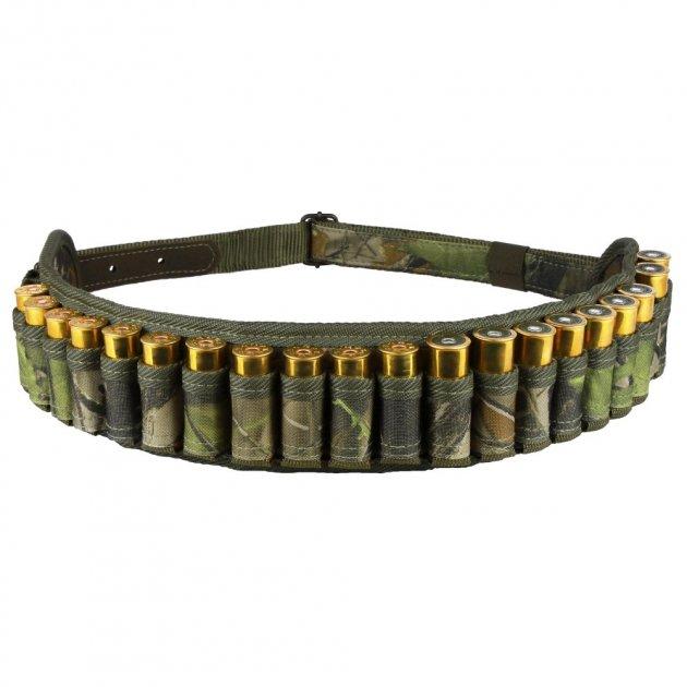 Патронташ Открытый Bronzedog из Полиэстера на 24 патрона 12/16 калибр Зеленый (8090) - изображение 1