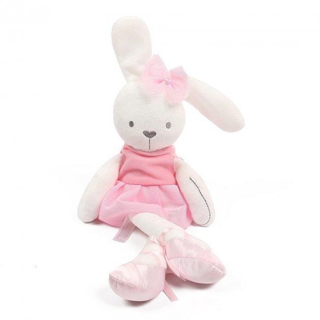 М'яка іграшка Mami and Baby заєць Milly балерина 45см в рожевій сукні - зображення 1
