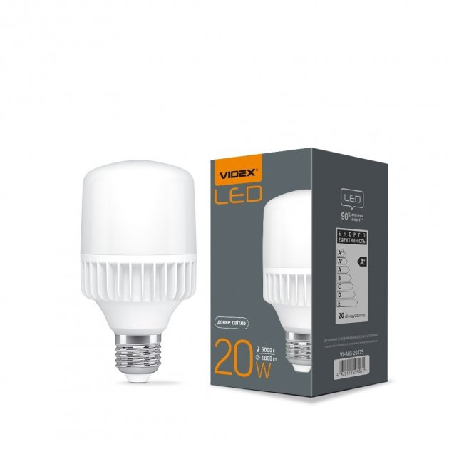 LED лампа VIDEX A65 20W E27 5000K - зображення 1