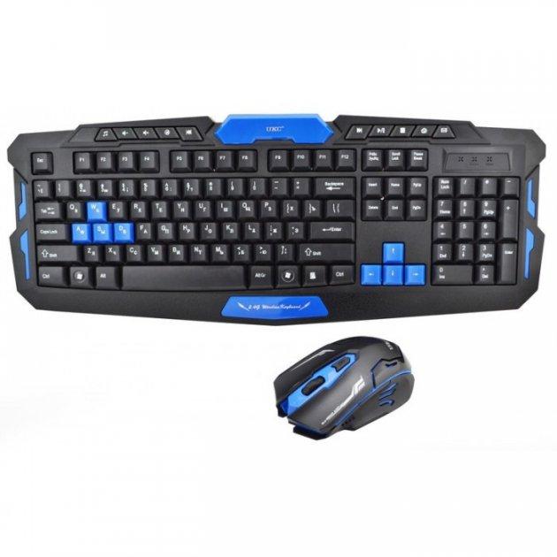 Бездротова ігрова російська клавіатура + мишка UKC HK8100 - зображення 1