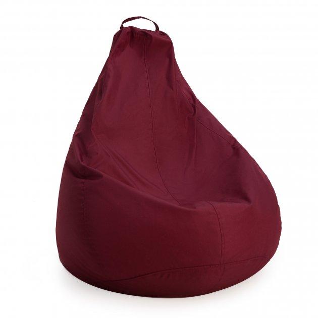 Крісло груша мішок з підкладкою Prolisok вино 80х115 (L) Oxford 600d PU - зображення 1