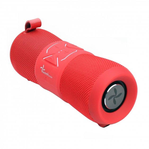 Портативна акустична водонепроникна Bluetooth колонка бумбокс WEEKENDER F2 RED 12Вт - зображення 1