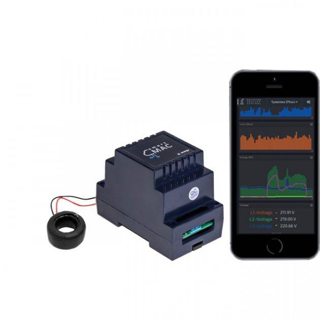 Енергомонітор з WiFi smart-MAC D101-11, однофазний, стандартна версія, кільце 100А - зображення 1