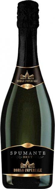Вино игристое Borgo Imperiale Spumante Bianco Brut Tfs белое сухое 0.75 л 11% (8008820001049) - изображение 1