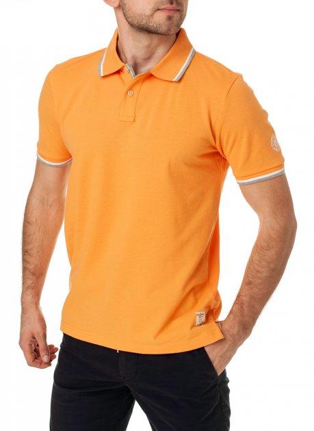 Мужское поло Pierre Cardin Однотонное XXL Оранжевая (А:52414/4813 М:81255) - изображение 1