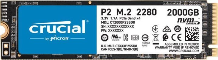 Накопичувач SSD M. 2 2280 500GB MICRON (CT500P1SSD8) - зображення 1