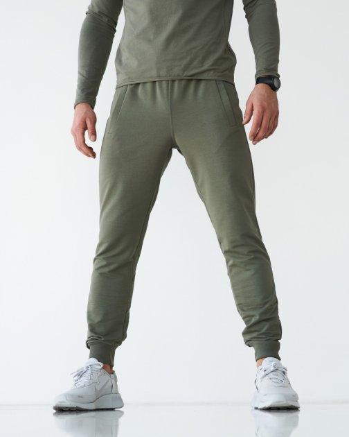 Спортивные штаны тонкие GR8 active wear модель 61т2-оливковый размер 2XL - изображение 1
