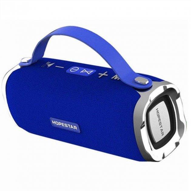 Потужна портативна Bluetooth колонка Sound System H24 Pro Hopestar Синя - зображення 1
