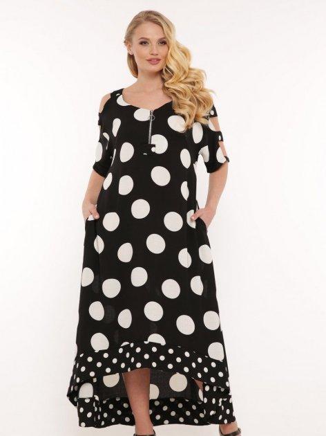 Платье VLAVI Тропикана 120602 52 Черное - изображение 1