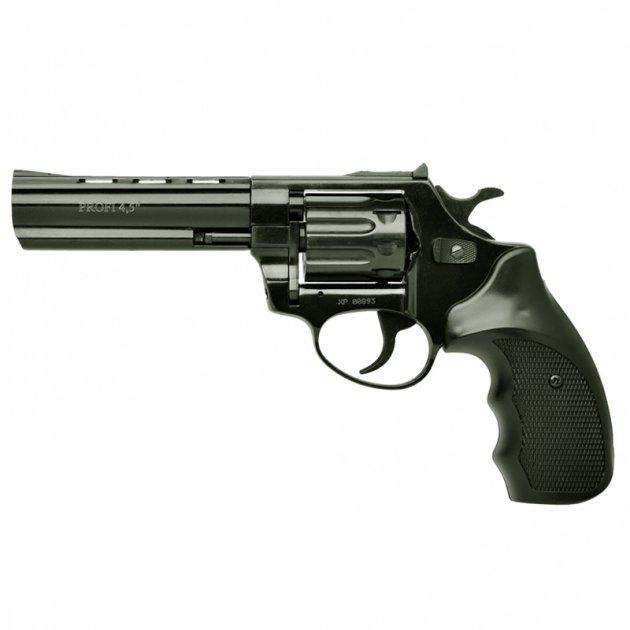 """Револьвер під патрон флобера PROFI (4,5"""", 4.0 мм), ворон-пластик - зображення 1"""