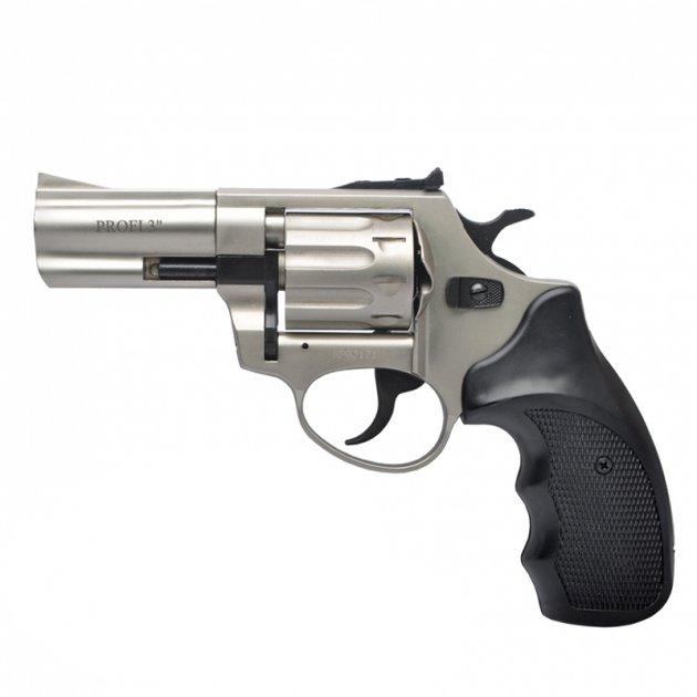 """Револьвер під патрон флобера PROFI (3.0"""", 4.0 мм), сатин-пластик - зображення 1"""
