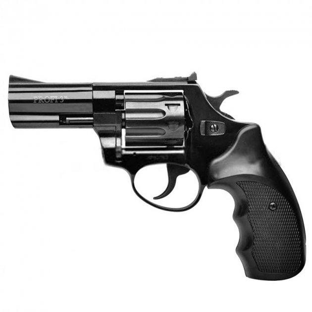 """Револьвер под патрон флобера PROFI (3.0"""", 4.0мм), ворон-пластик - изображение 1"""