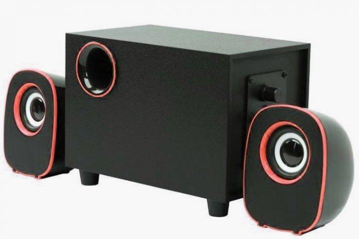Колонки компьютерные Kronos FT-H3 mini 2.1 USB Черные с красным (gr_010765) - зображення 1