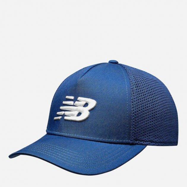 Кепка New Balance Nbf Team Trucker Cap Cap MH013035CAW One size Синя з білим (194768330582) - зображення 1