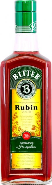 Настойка На травах Rubin Bitter 0.5 л 38% (4820136352530) - изображение 1