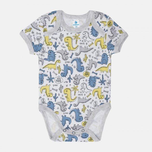 Боди-футболка Minikin Cutesaur 211603 68 см Белый/Серый (2020438000678)