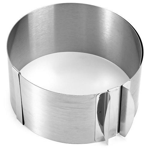 Розсувна кругла форма для випічки висота 10 см (70188) - зображення 1